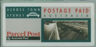 1991 $3.25 Across Town Sydney parcel post label